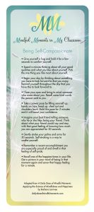 Mindful Moments Card - Being Self-Compassionate